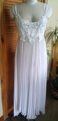 Flora Nikrooz Lingerie / Wedding Nightgown / White by Lauralous, $79.00