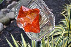 Flower Sun Catcher Garden Art,