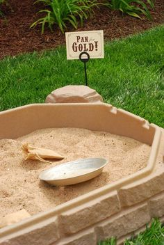 oh gracious - gold panning station??  We'd definitely have to make this cooler, but good inspiration