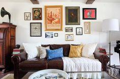 La Habra Heights - Orlando is a gallery wall pro. by @homepolish Los Angeles
