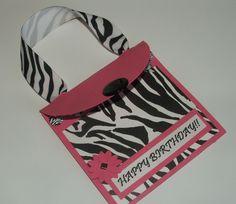 Zebra Happy Birthday Gift Card Holder