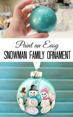 easy snowman family ornament
