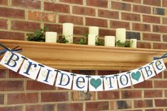 Bridal Shower Decorations Bridal Shower Banners Bride To Be Banner Bachelorette CUSTOMIZE YOUR COLORS. $20.00, via Etsy.