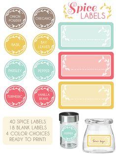 Spice Jar labels....