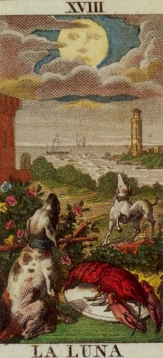 Classic Tarot -18 The Moon