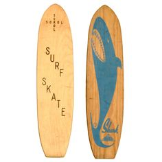 Two Classic Skateboards, Sokol & Shark, 1960s