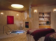 TOP 75 U.S. MAINLAND HOTEL SPAS  # 33.  BORGATA HOTEL CASINO & SPA    Overall Score: 90.4  Treatments: 91.0  Staff: 87.5  Facilities: 92.6    Treatment Rooms: 31  Basic Massage: $99