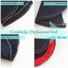 WIDI | Sewing blog | Step by Step instructions | Tutorials: 4 ways to hem circle skirt