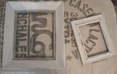 After a little paint yard sale frames become a vintage style beauty. Layer two frames together and it is transformed into one of those expensive fancy frames for under $1 !!