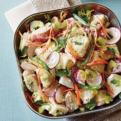 Veggie Potato Salad | MyRecipes.com #myplate  #veggies #dairy