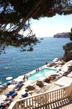 honeymoon, dubrovnik, pool, croatia, vacation travel, places, hotel victoria, destin, wanderlust