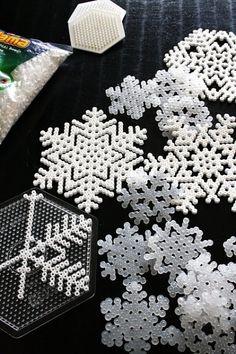 Hama beads Snowflakes.