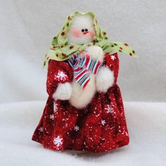 Snow Mother and Child, handmade USA, Kathy's Holiday, Ocean City, NJ