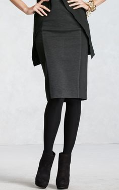 skirt, and it is a hair longer than other pencil skirts, which is nice