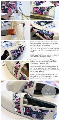 Into this fan #DIY - TOMS with Instagram photos