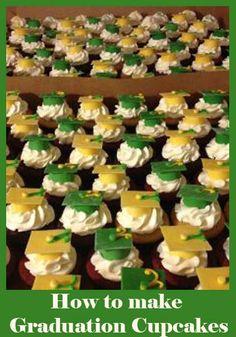 How to make Graduation Cupcakes // Looks like #Baylor to me!