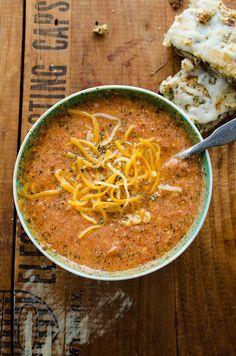 Tomato Basil Cheddar Soup