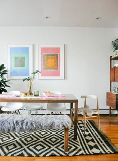 """Design*Sponge/Sneak Peek Over the summer I got my first """"real"""" dining table (in other words, big enough to seat more than 4 people). I had to have it delivered about..."""