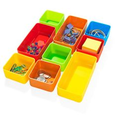 Squishy little silicone trays bring order and a dash of sunshine to your junk drawer.