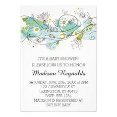.Fun Whimsical Baby Shower Invitation
