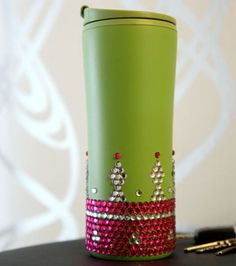 Make sure you know which water bottle is yours at summer camp, school, or the office! Check out this coffee mug, embellished with @ILoveto Create Glam-It-Up PDA crystals :) You could use paint, markers, or crystals, too!