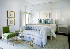 simple bedding in a clean bedroom #interiordesign