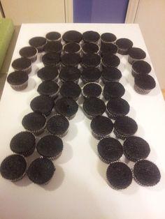 Groom pull apart cupcake cake 'undressed'!