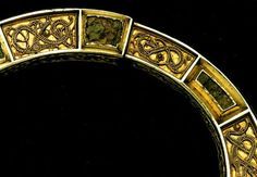 This silver gilt brooch with amber settings was found at Hunterston in Ayrshire, Europe. Made around 700, it is one of the finest products of its time,ca. 700 A.D.