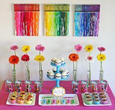 Art party dessert table