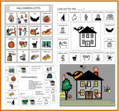 Halloween Freebies at Speaking of Speech - Pinned by #PediaStaff.  Visit ht.ly/63sNt for all our pediatric therapy pins