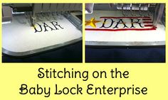 Stitching on the @BabyLock Enterprise!  Making a tote bag for a member of the DAR!