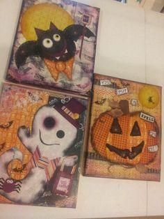 Halloween mixed media