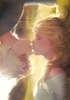 Elsa and Jack Frost by Panbukin Lots of talent!
