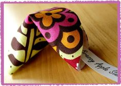 Brassy Apple: Fabric Fortune Cookies