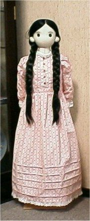 Abstemious little Cindy in the scullery. How to make a soft cloth doll.