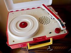 Child's record player.