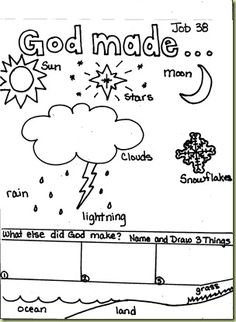 Job 38 – FREE Kid's Coloring Page