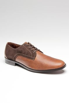 Handsome leather & suede men's shoe.