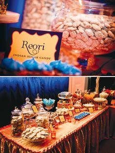 indian lohri celebration dessert table