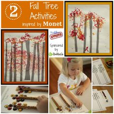 2 Fall Tree Activities Inspired by Monet from Toddler Approved