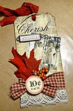 Nancy Burke Vintage Fall Tag graphic 45