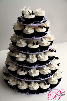Dogwood flower wedding cupcake tower cupcak creation, cake inspir, wedding cupcakes, cupcak tower, cupcake towers