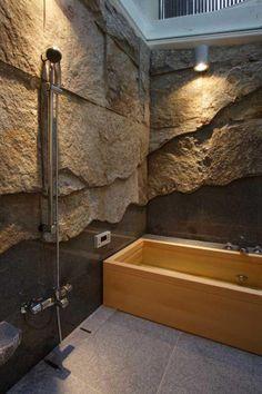 bathroom design, contemporary interior design, contemporary interiors, bathrooms, wall textures, stone walls, hous, stones, rocks