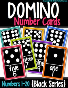 domino number cards for a classroom reference. Love the bright colors!