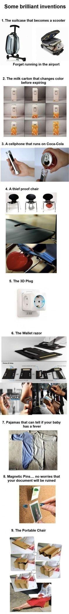 Some brilliant inventions.