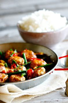 Thai Chicken Meatball Curry | #food #chicken #curry
