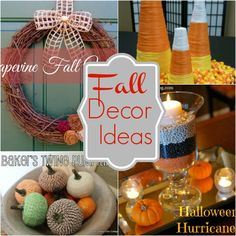 A compilation of great fall decor ideas! A great wreath collection here too and lots of crafts to make for your home!