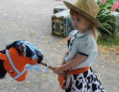 Birthday girl on her Hobby Horse.