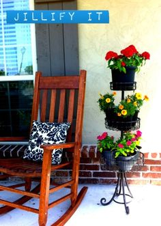 Cute stand for porch pots