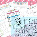 5 FREE Blog Planner Printables